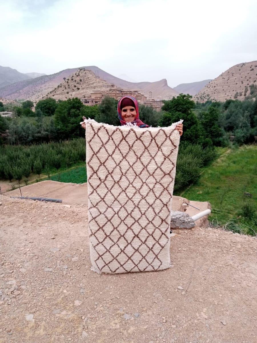 Pile Knot  Brown, Black Morocco