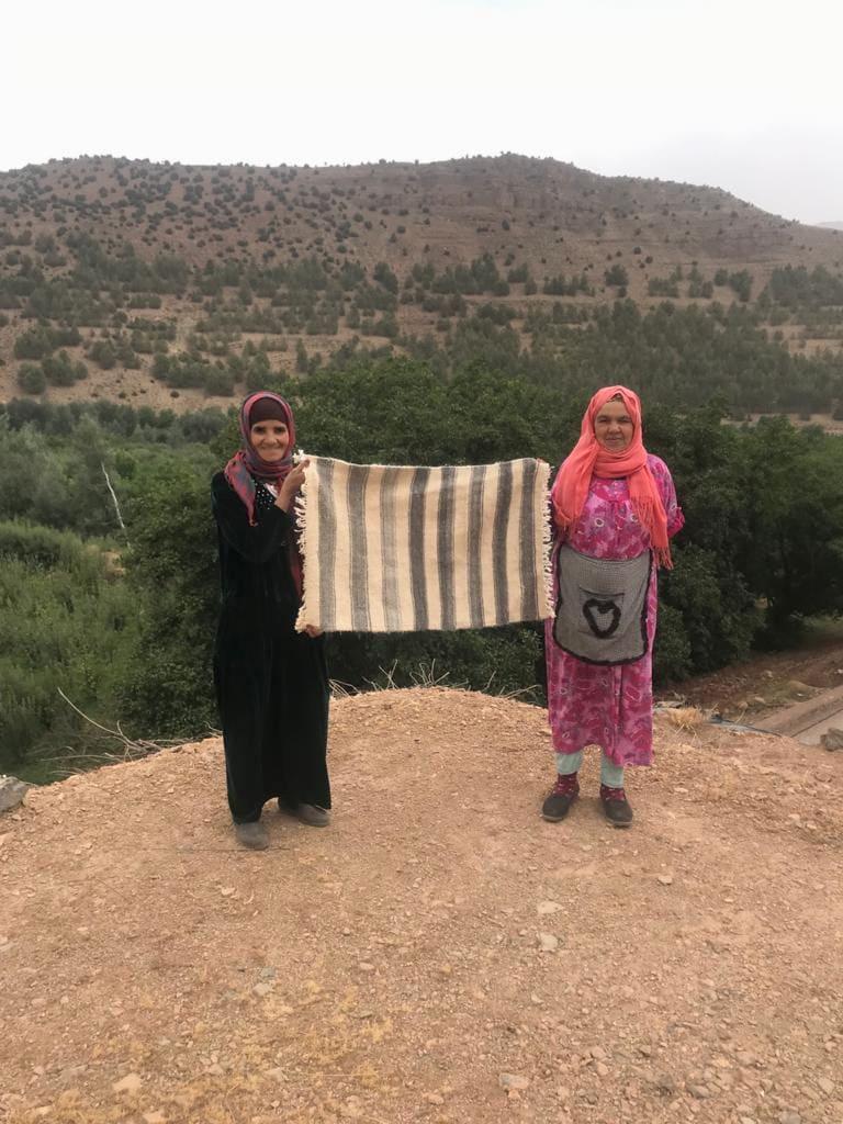 Hanbel blanket   Grey, White Morocco