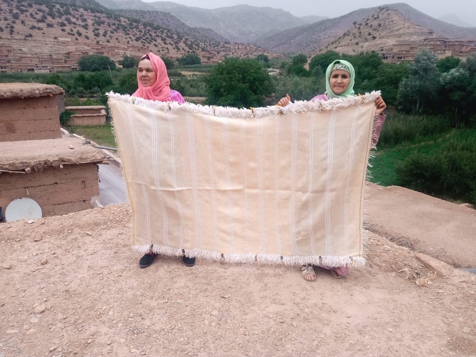 Hanbel blanket   Blue, Yellow Morocco