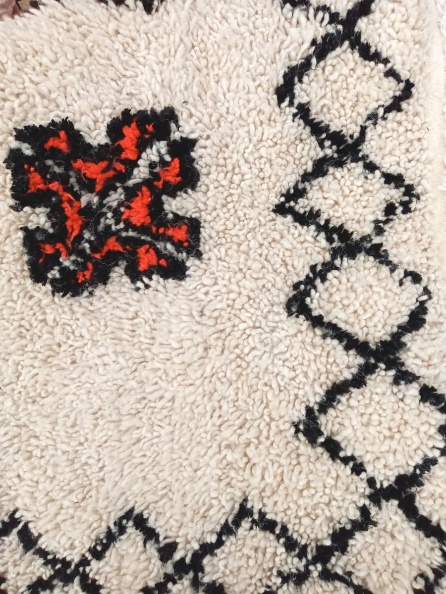 A rug  Red, Black Morocco