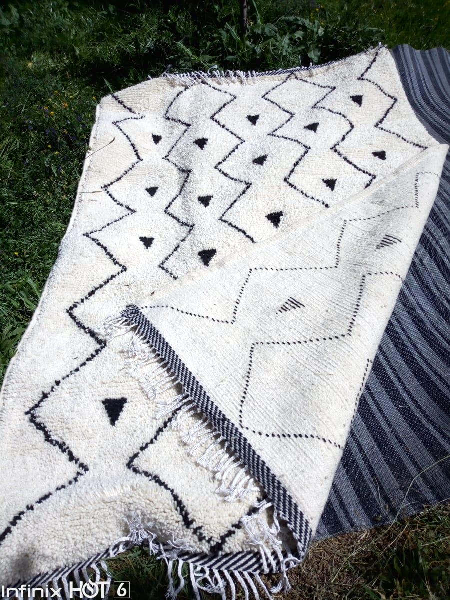 Beni Ourain  Black, White Morocco