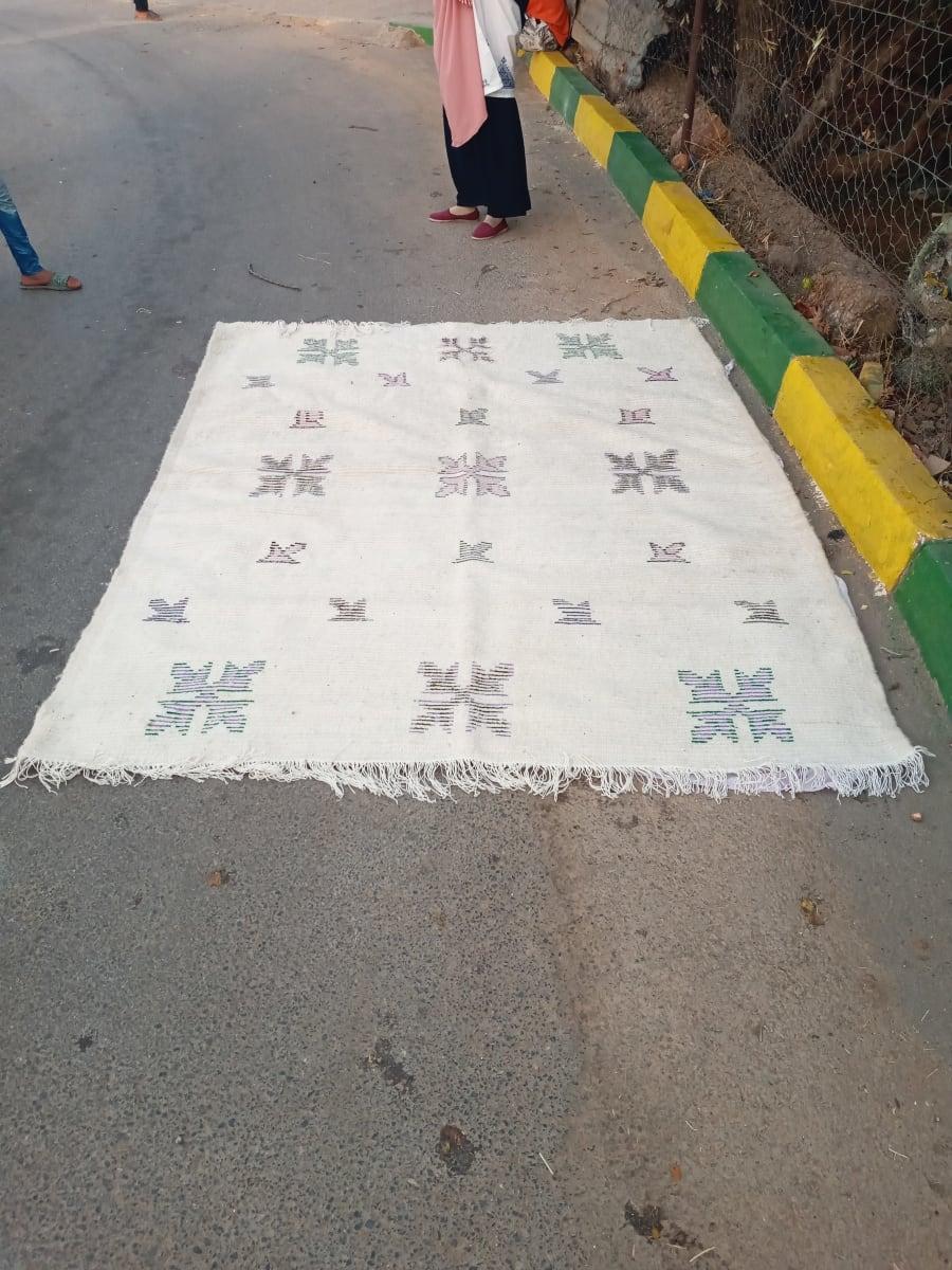 A rug  Colored Morocco