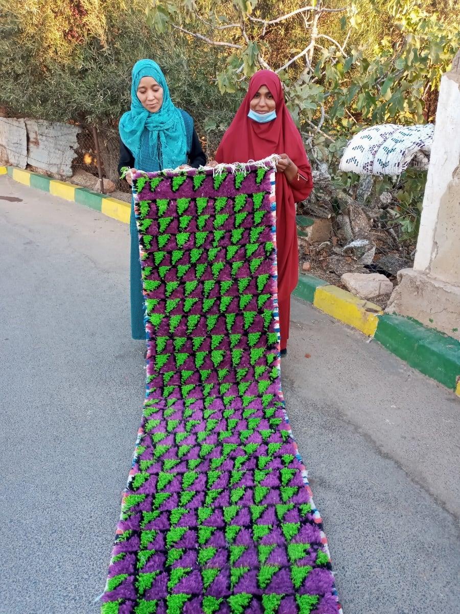 rug Boucherwitte Alkoba  Pink, Green Morocco