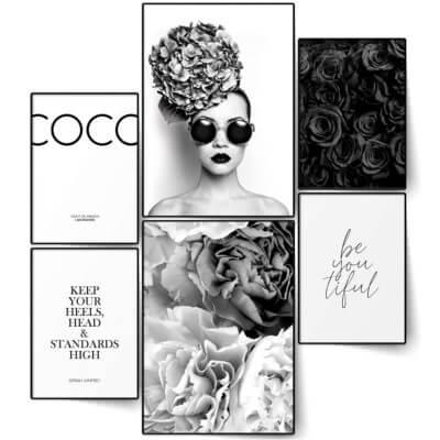 Set affiches de décoration intérieure Coco