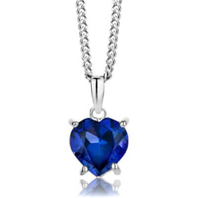 pendentif avec saphir bleu