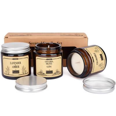 Cadeau set de bougies aromathérapie