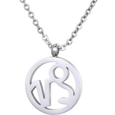 Collier pour femme avec le signe astrologique du Capricorne