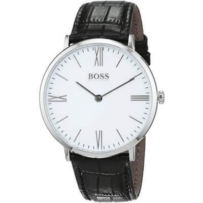montre pour homme de Hugo Boss avec bracelet en cuir