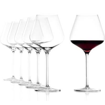 Verres à vin rouge de Bourgogne de Stölzle Lausitz
