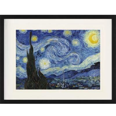 Bild mit Rahmen von Van Gogh die Sternennacht