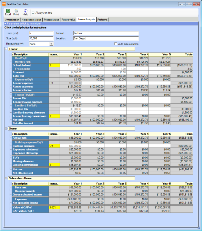 Leasecalc msgmgr