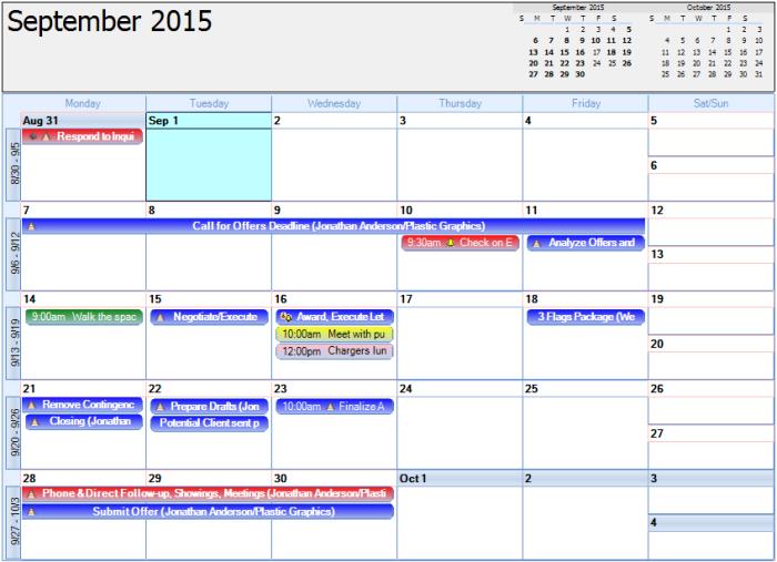 Monthly calendar ioimck