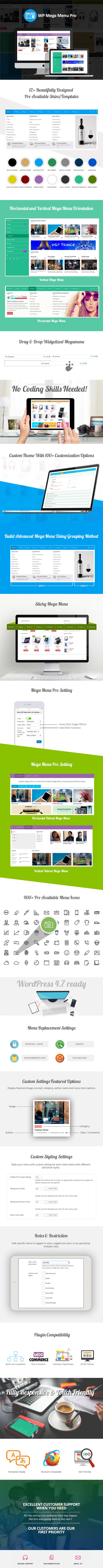 WP Megum Menu Pro - Sales Page