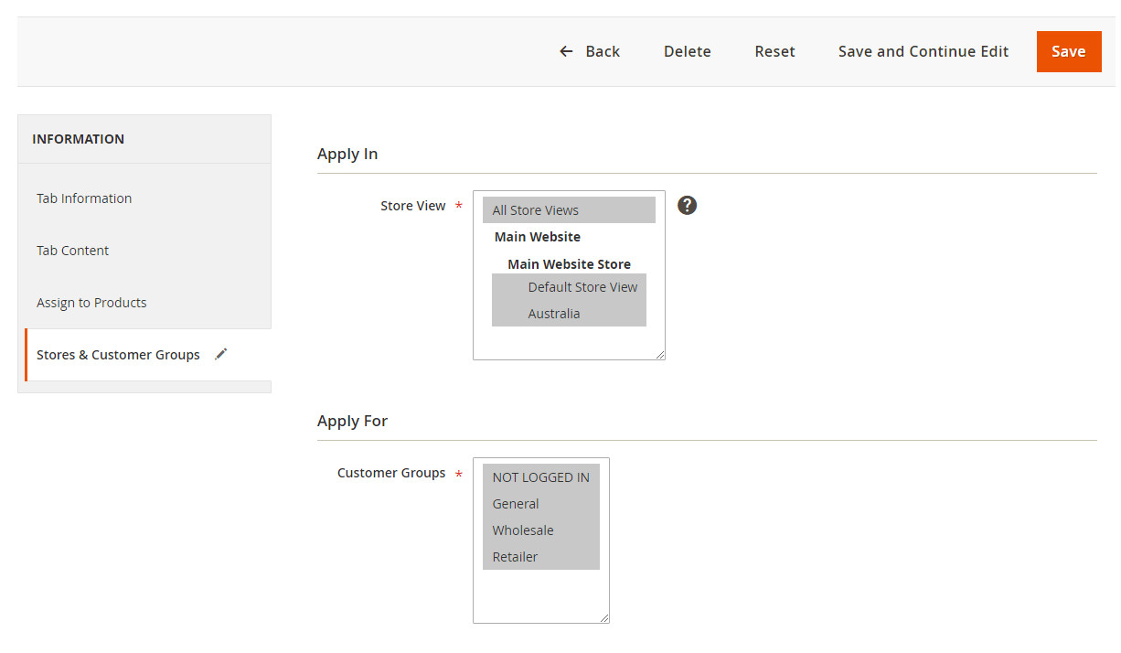 Front - Product View Page
