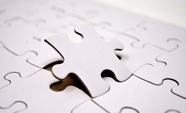White puzzle pieces.