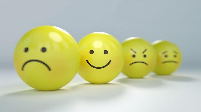 a line of emoji faces.