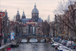 Amsterdam famous canal and architecture