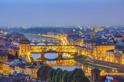 Florence skyline at night