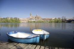 Boats on the river in Salamanca