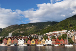 Bergen skyline with mountains as a backdrop