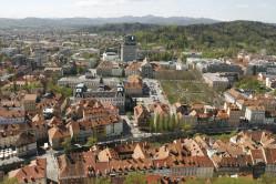 View over Ljubljana Slovenia