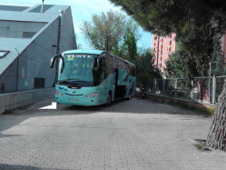 Parking for bus at the hostel