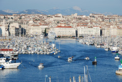 Marseille skyline and port