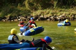 Scouts group at water survival training