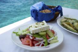 Greek salad, borrowed