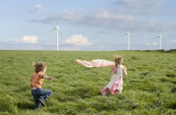 Children wind farm