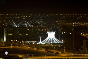 Brasilia city scene at night
