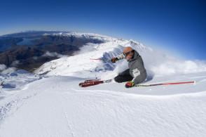 Skiing in Wanaka, New Zealand