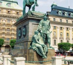 Monumento en el centro de Malmö