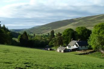Prosen : Looking south down Glenprosen