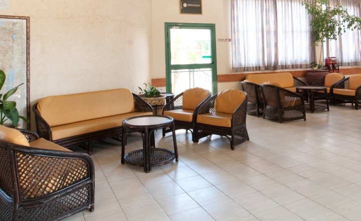 Pekiin Israel  City pictures : Reception lobby at the Pekiin hostel in Israel