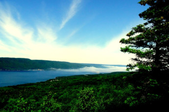 HI - Cape Breton : A view of the lake outside the hostel