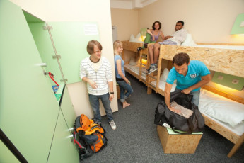 Koln - Pathpoint Cologne : People in dorm room at Koln Pathpoint Cologne