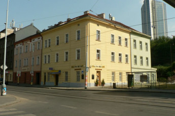Prague - Pension BETA : Outside the Pension BETA Hostel