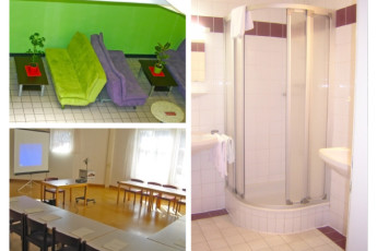 Klagenfurt - Universitätsviertel : Facilities and rooms available include showers, lounge and presentation areas
