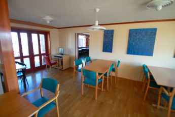 Höfn : Common room at Hofn hostel