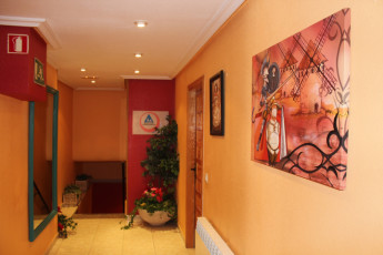 Salamanca - Albergue Juvenil : landing of hostel Salamanca Albergue Juvenil