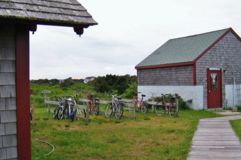 HI - Nantucket : Bicycles and outbuilding at HI Nantucket