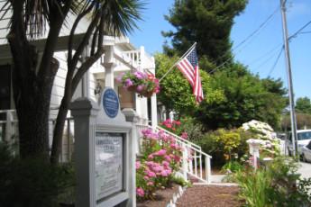 HI - Santa Cruz : flores en la galería en HI Santa Cruz
