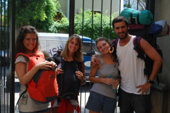 Montevideo - Unplugged Hostel : Montevideo - Unplugged Hostel people outside hostel