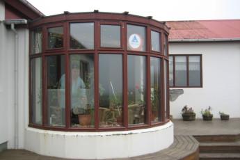 Árbót : Conservatory at Arbot hostel