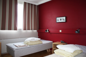 Rovaniemi - Santa's Hostel Rudolf : Hostel Rudolf twin room