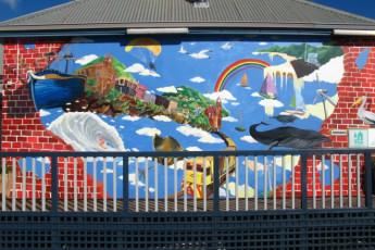 Albany YHA : Albany YHA painted wall
