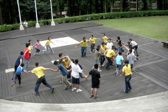 Sun Moon Lake Youth Activity Center : Playground outside Sun Moon Lake Youth Activity Center in Taiwan