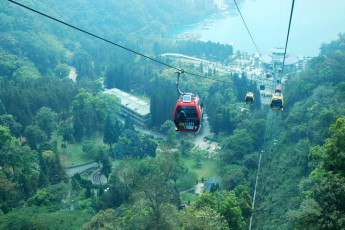 Sun Moon Lake Youth Activity Center : Mountain cable car at Sun Moon Lake Youth Activity Center in Taiwan