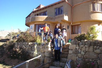 Inca Pacha' Isla del Sol : L'entrée de devant de Inca Pacha' Isla del Sol en Bolivie